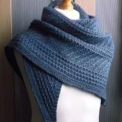 sapphire shawl - via @Craftsy