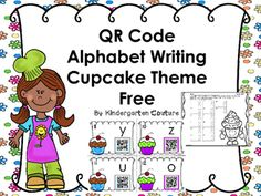 There are two sets of QR Task Cards with a fun cupcake theme, in this product.  The first set are for letters a - l. The second set is for letters m-z.  Students will look at the number in the corner of the task card, then look at the letter.  They write the matching uppercase letter by the same number on the recording sheet. (There are two choices of recording sheets.) Next they scan the card to see if they were correct.  (I don't have control over the size of the letters or font on the QR…