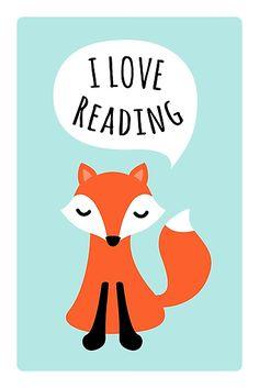 fox loves reading