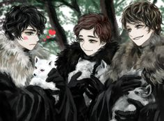 Jon+Robb+Theon by ~tyusiu