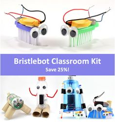 Bristlebots robotics classroom kit is a fun way to explore STEM with robotics. Includes lesson plans and supplies for 20 robots. Science Kits, Science Education, Science Projects, Projects To Try, Classroom Setting, Robotics, Science And Nature, Lesson Plans, Engineering