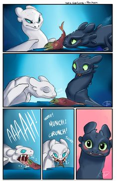 Toothless & the Lightfury Httyd Dragons, Dreamworks Dragons, Cute Dragons, Disney And Dreamworks, Cute Comics, Funny Comics, Cute Disney, Disney Art, Funny Disney Memes