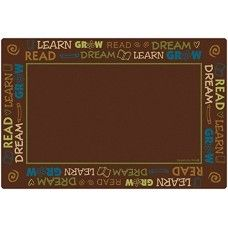 Kids Rugs: Read to Dream Border Rug - Nature - 4' x 6' Rectangle