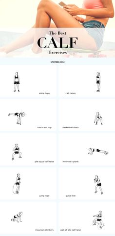 The best exercises for sculpted, strong and feminine legs! If you want your legs to look amazing in high heels you need to start paying special attention to your calves. Strong and sculpted legs not only look fabulous in a short dress but can also help you boost your athletic performance and provide your body with a solid foundation to build upon. Add these 10 exercises to your leg workouts, engage your calves and feel the burn! #weightlossbeforeandafter