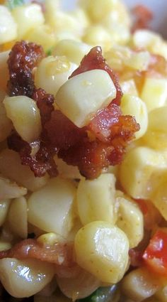 This is really good.  I canned my own corn this year and used what cobs I had left over to make this.  It was so sweet and yet had a great salty underlying flavour from the bacon-Desuza's Divine Indulgence
