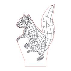 Squirrel illusion lamp plan vector file OP for CNC - Vector File, Metal Art, Squirrel, Cnc, Illusions, Lamps, How To Plan, Studio, Frame