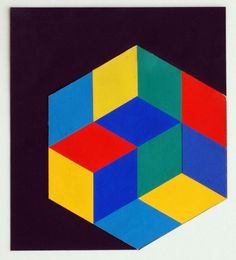 Großes Kristall  Victor Vasarely  Collage, 1970 s