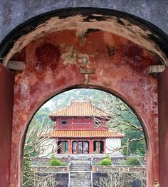 Doorway to the Past - Vietnam by Jordan  One of seven tomb site dotted around Hue in Viet Nam.