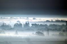 Winter Sun Rises Over Somerset Levels