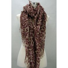 Skull leopard print scarf- red Available from www.skullaccessories.co.uk