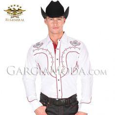 Camisa Charra El General Western Wear - White #ropavaquera #grupero #norteño #westernwear #cowboy #charro