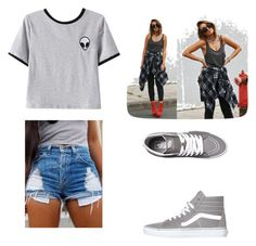 """""""ALIENNNN"""" by tannab ❤ liked on Polyvore featuring Chicnova Fashion and Vans"""