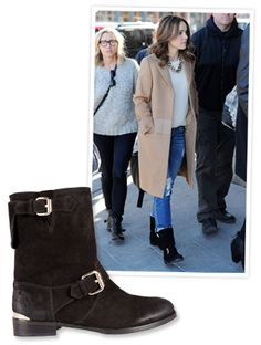 Found It! Rachel McAdams' Cozy Motorcycle Boots #InStyle