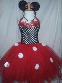 Minnie Mouse Themed Tutu Dress In Red and Black by LiseTutuDesigns, $35.00
