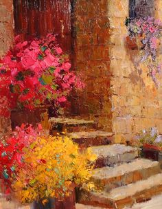 Flowered Steps, Artist Scott Wallis at May Gallery