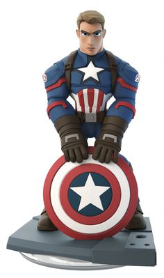 A closer look at the Captain America: The First Avenger figure.