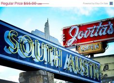 Fine Art Photography Austin Texas Vintage Road Signs by AsqewCreative