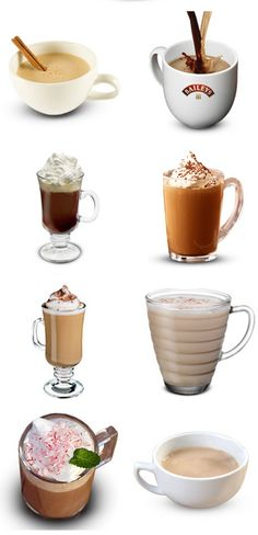 Hot and Cold Drinks Made with Irish Cream (Baileys)