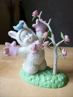 "$25-Dept. 56 2002 Snowbabies ""Grow It. It Will Make You Happy"" Figurine"