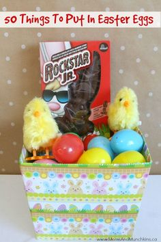 What To Put In Easter Eggs - 50 fun ideas for things to put in Easter eggs!