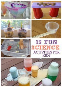 "15 Fun Science Activities for Kids. not particularly a parenting tip, but something to occupy time while learning. Most are inexpensive too! we have an after school schedule that includes a ""project"" I'll be adding these and try for one a week."