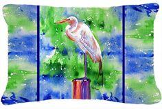 Egret Indoor/Outdoor Throw Pillow