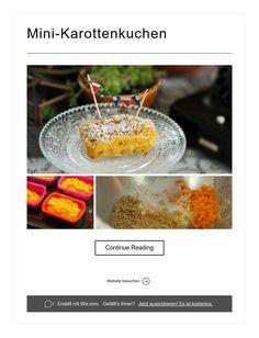 Mini-Karottenkuchen Continue Reading, Mini