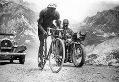 Federico Ezquerra (Spain) was the first to reach the top of the Col du Télégraphe and the Galibier in this stage. Tour de France 1934.