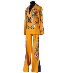 "Vintage Nudie's Rodeo Tailors of North Hollywood, California ""Nudie Suit"" with Embroidered Native American Motif and Swarovski Crystal Rhinestones"