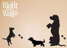 wall decal dog silhouette