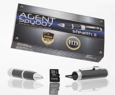 Agent Spy 007 Stealth Spy Pen Series 2 HD Hidden Video Camera-Best Premium Digital Quality with True HD-Free SD card included-Real use-Great for Secret Covert Capture or Web Cam -works with PC Mac -- Visit the image link more details. Spy Gadgets, Latest Gadgets, Hidden Video Camera, Fishing Reels For Sale, Rear View Mirror Camera, Wireless Backup Camera, Best Home Security System, Best Noise Cancelling Headphones, Spy Gear