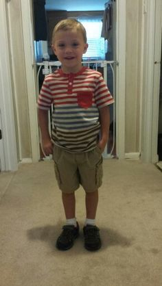 Dylan ready for school on Friday, August 31, 2015.