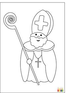 Carte Coloriage Saint Nicolas pour envoyer par La Poste, sur Merci-Facteur ! #SaintNicolas #StNicolas #carte http://www.merci-facteur.com/carte-saint-nicolas.html