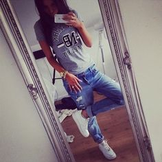 comfy everyday outfit, nike airforce