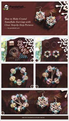 Jewelry Making Tutorial-DIY Crystal Snowflake Earrings for Christmas   PandaHall Beads Jewelry Blog