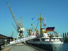 Die MS Bleichen ist das Museumsschiff der Ausstellung(Foto: Stiftung Hamburg Maritim, Hafenmuseum Hamburg)