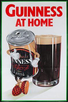 1960s Guinness Beer British vintage advert poster
