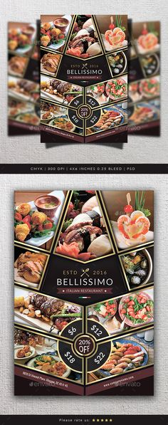 Steak Restaurant Flyer Steak, Restaurants and Flyer template