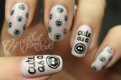 Cute as a button nail :)  From: Copy That, Copy Cat