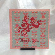Thank you exotic bird card