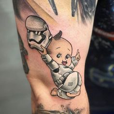 Stormtrooper Kewpie tattoo by @joshlegendtattoo at The Constable Tattoo Parlor in Plainfield IL #joshlegendtattoo #joshlegend #theconstabletattooparlor #plainfield #illinois #starwars #starwarstattoo #kewpie #kewpietattoo #kewpiedoll #kewpiedolltattoo #stormtrooper #stormtroopertattoo #tattoo #tattoos #tattoosnob