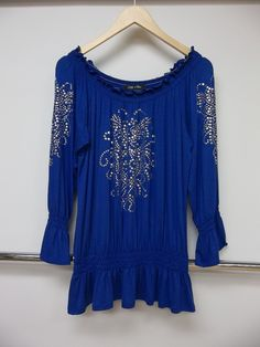 Royal blue with silver embellishments!