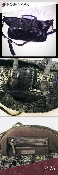 Liebeskind Berlin Chelsea crocodile bag Gorgeous Liebeskind Berlin Croc print Chelsea bag with top handles and shoulder strap. Great for weekends or work, holds everything you need! And Black never goes out of style. Liebeskind Bags Satchels