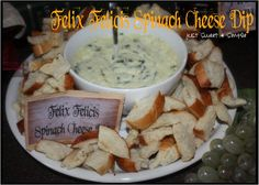 Harry Potter Felix Felicis Spinach Cheese Dip