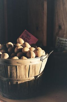 Sierra Gold by Caitlyn Grasso. This basket of Sierra Gold potatoes looks so delicious sitting in the sunshine.