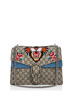 Gucci Medium Dionysus Embroidered Angry Cat GG Supreme Shoulder Bag. The GAUDIER the better!!!