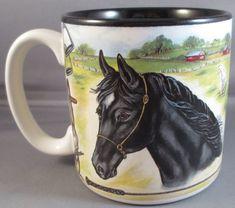Black Beauty Mug #Horse #horsefarm #horsetack #coffee #mugs #equestrianstyle #collectibles #bonanza #bonanzabooth #bonanzaseller