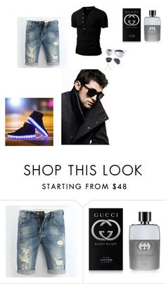 """""""Cdiscount #2"""" by zbanapolyvore ❤ liked on Polyvore featuring Gucci, DKNY, men's fashion and menswear"""