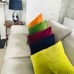 Velvet cushions super quality velvet adds that splash of colour Best Bedding Sets, Linen Storage, Affordable Bedding, Linen Bedding, Bed Linens, Velvet Cushions, Bed Styling, Home Decor Inspiration, Luxury Bedding