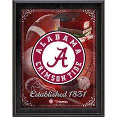 Alabama Crimson Tide 10.5'' x 13'' Sublimated Team Logo Plaque